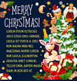 merry christmas wish gifts greeting card vector image vector image
