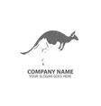 Night Kangaroo Logo Icon vector image vector image
