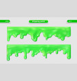 paint dripping glossy surface set eps 10 vector image