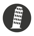 pisa tower isolated icon vector image vector image