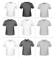 polo shirts and t-shirts vector image vector image