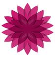 Purple Wheel Flower transparent vector image vector image