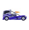 racing turbo truck sport heavy vehicle freight vector image