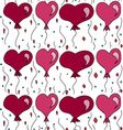 seamless pattern with balls in the form of hearts vector image vector image
