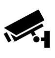 security camera sign icon vector image vector image