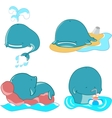 set of whales vector image