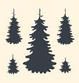set spruce tree symbols vector image vector image