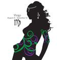 Silhouette of a girl interpretation zodiac sign vector image