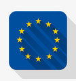 Simple flat icon Europe Union flag vector image vector image