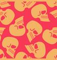 skull seamless pattern texture skeleton head vector image vector image