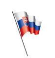 slovakia flag on a white vector image vector image