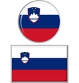 slovenian round and square icon flag vector image vector image