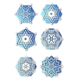 Snowflakes with 3D effect logo icons winter vector image vector image