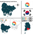 south gyeongsang province south korea vector image vector image