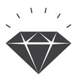 sparkling diamond icon vector image