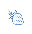 strawberry line icon concept strawberry flat vector image vector image