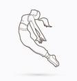 street dance b boys dance hip hop dancing vector image vector image