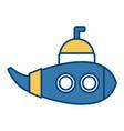 submarine sea ship vector image vector image