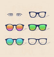 sunglasses set vector image vector image