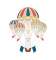 vintage hot air balloon for flight high in sky vector image vector image