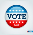 Vote 2012 button vector | Price: 3 Credits (USD $3)