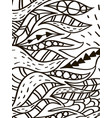 wave leaves coloring book for adult vector image vector image