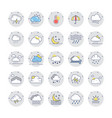 weather colored line icons 1 vector image vector image