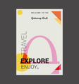 welcome to the gateway arch st louis usa explore vector image vector image