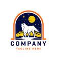 wild horse logo design template vector image vector image