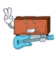 with guitar brick mascot cartoon style vector image