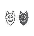 wolf line and glyph icon animal and zoo dog sign vector image vector image