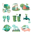 Ecology Decorative Icons Set vector image