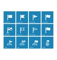 Flag icons on blue background vector image