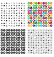 100 coherence icons set variant vector image vector image