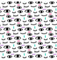 abstract eye pattern vector image