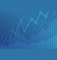abstract financial chart with uptrend line graph vector image vector image