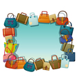 An empty surface surrounded with different bags vector image vector image