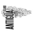 antigua history text word cloud concept vector image vector image