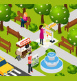 augmented reality park composition vector image vector image