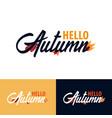 autumn fall logo and emblem vector image