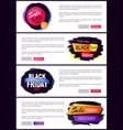 big sale black friday website vector image vector image