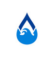 blue water nature waves logo icon vector image vector image
