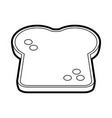bread slice vector image