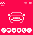 car symbol line icon vector image vector image