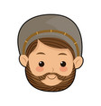 cartoon cute face shepherb manger character vector image