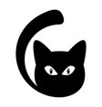 cat silhouette icon vector image vector image