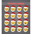 celebratory Christmas smileys vector image