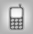 cell phone sign pencil sketch imitation vector image vector image