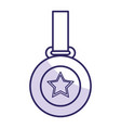 champion medal with star vector image