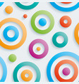 colorful circles walpaper vector image vector image
